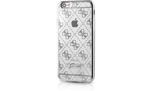 Guess TPU Transparent Case 4G Silver For iPhone 6/6S