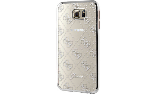 Guess TPU Case Transparent Silver, for Galaxy S7 Edge