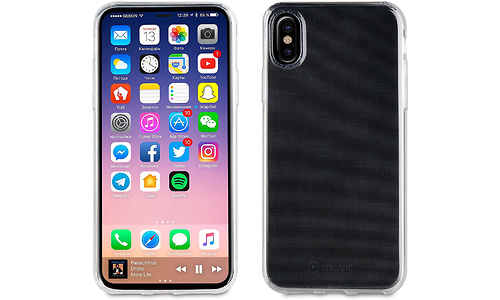 Muvit Cover Case for Apple iPhone X, Transparent