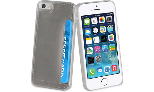Muvit Crystal Card Silver For Apple iPhone 5s/se