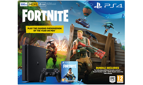 Sony PlayStation 4 Slim 500GB Black + Fortnite
