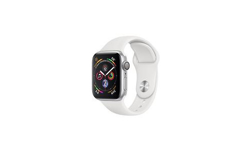Apple Watch Series 4 40mm Silver Sport Band White