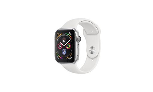 Apple Watch Series 4 44mm Silver Sport Band White