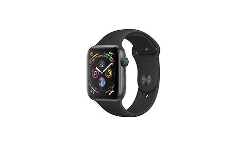 Apple Watch Series 4 44mm Space Grey Sport Band Black