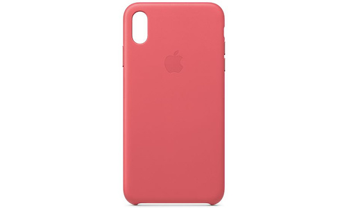 Apple iPhone Xs Max Leather Case Peony Pink