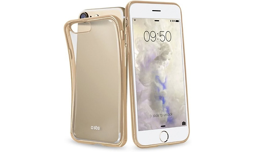 SBS Mobile Cover Slim Transparent Edge iPhone 7 Gold
