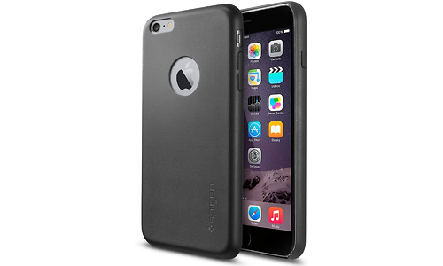 Spigen Leather Fit Apple iPhone 6/6s Plus Back Cover Black