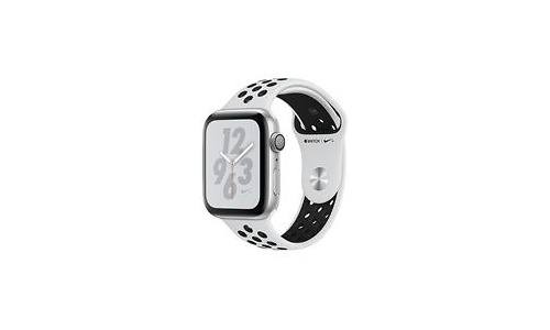 Apple Watch Nike+ Series 4 44mm Silver Sport Band Black/Silver