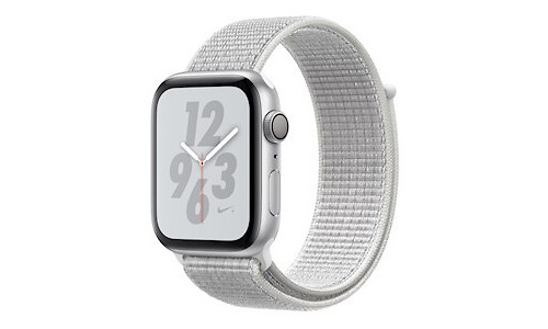 Apple Watch Nike+ Series 4 44mm Silver Sport Loop Hail White
