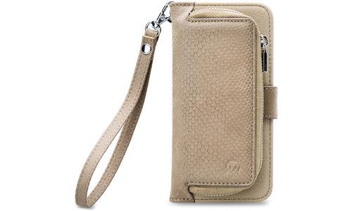 Mobilize 2in1 Gelly Wallet Zipper Case Samsung Galaxy A8 2018 Latte