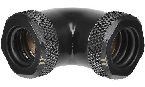 Thermaltake Pacific G1/4 PETG Tube 90-Degree 12mm OD Black