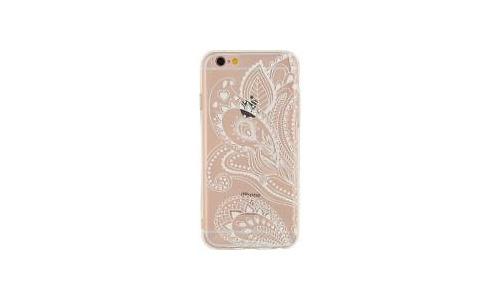 Xccess TPU Case Apple iPhone 6/6S Transparent/White Mandala Leaf