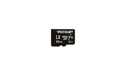 Patriot LX Series MicroSDXC UHS-I 64GB + Adapter