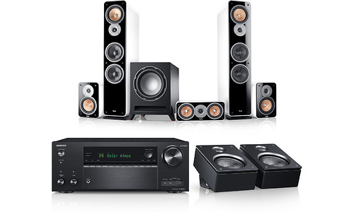 Teufel Ultima 40 Surround AVR for Dolby Atmos 5.1.2-Set Black/White