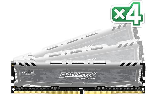 Crucial Ballistix Sport LT Grey 16GB DDR4-2400 CL16 quad kit