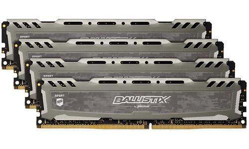 Crucial Ballistix Sport LT Grey 32GB DDR4-2666 CL16 quad kit
