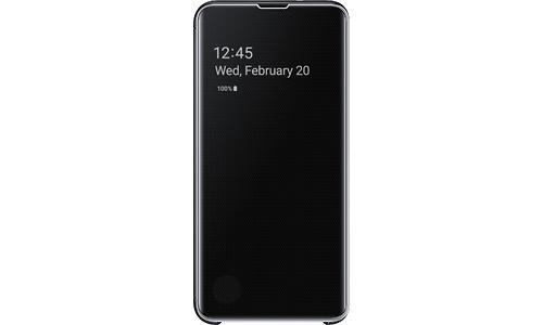 Samsung Galaxy S10e Clear View Cover Book Case Black