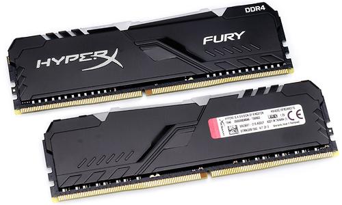 Kingston HyperX Fury RGB Black 16GB DDR4-2666 CL16 kit