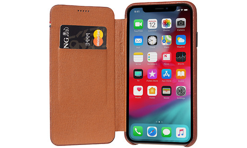 Decoded Leather Slim Wallet Apple iPhone X/Xs Book Case Brown