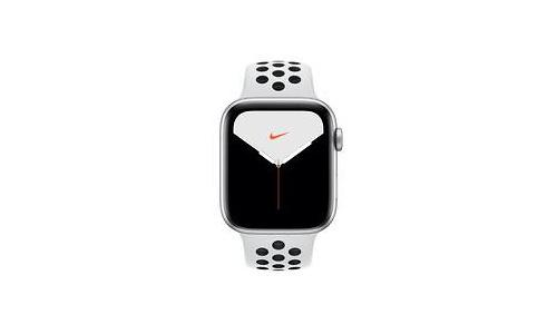 Apple Watch Nike Series 5 44mm Silver Sport Band Black/White
