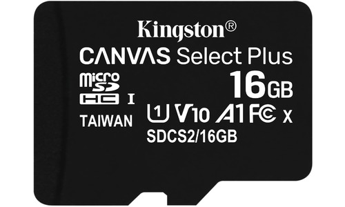 Kingston Canvas Select Plus MicroSDHC UHS-I 16GB + Adapter 3-pack