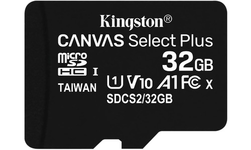 Kingston Canvas Select Plus MicroSDHC UHS-I 32GB + Adapter 3-pack