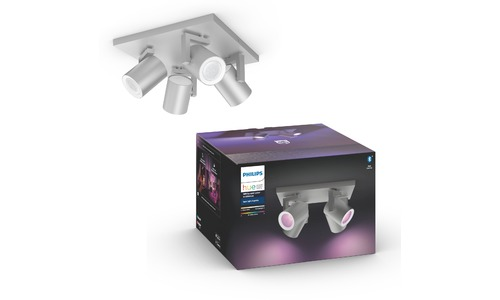 Philips Hue White & Color Ambiance Argenta Spot 4er Silver