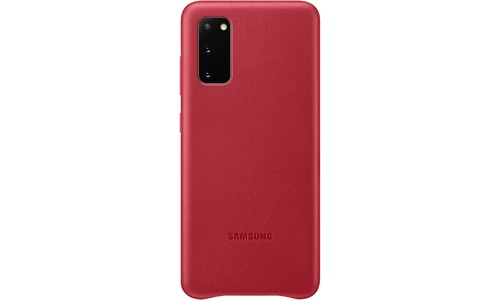Samsung Leather Cover For Galaxy S20 Red