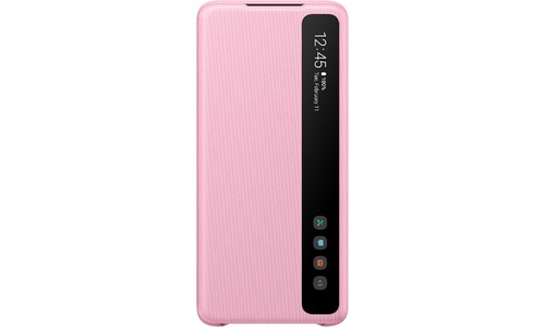 Samsung Clear View Cover Galaxy S20 Plus Pink
