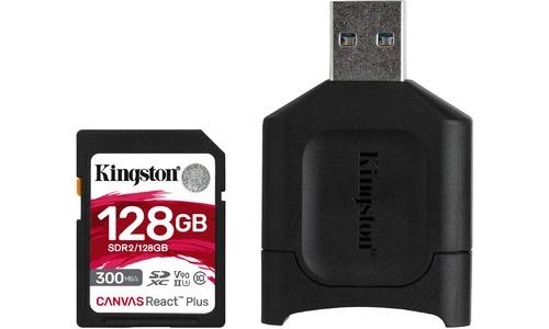 Kingston Canvas React Plus SDXC UHS-II 128GB + USB Reader