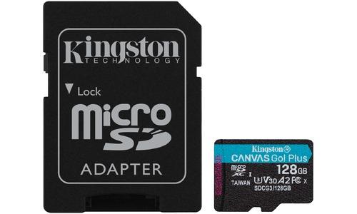 Kingston Canvas Go! Plus MicroSDXC UHS-I U3 128GB + Adapter