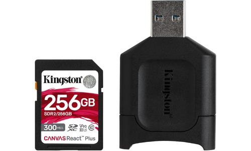 Kingston Canvas React Plus SDXC UHS-II 256GB + USB Reader