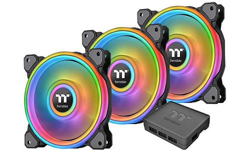 Thermaltake Riing Quad 12 RGB TT Premium 3-pack Black