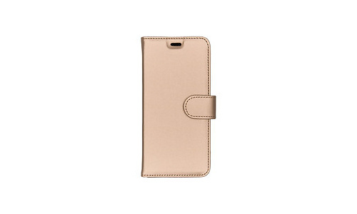 Samsung Accezz Wallet Softcase Booktype Samsung Galaxy A8 2018 Cover Gold