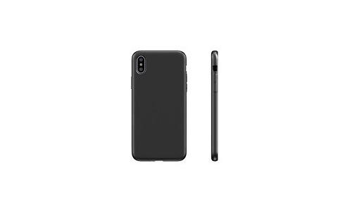 BeHello Premium Liquid Silicon Case Black For iPhone Xs X