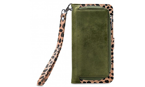 Mobilize Mobilize Gelly Wallet Zipper Samsung Galaxy A31 Cover Olive Leopard