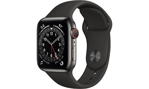 Apple Watch Series 6 4G 40mm Graphite Sport Band Black