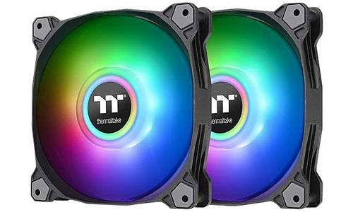 Thermaltake Pure Duo 14 aRGB Sync Radiator Fan Black 2-pack