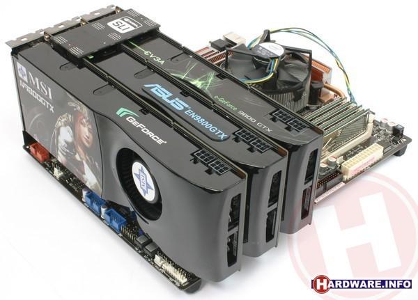 Nvidia GeForce 9800 GTX 3-way SLI