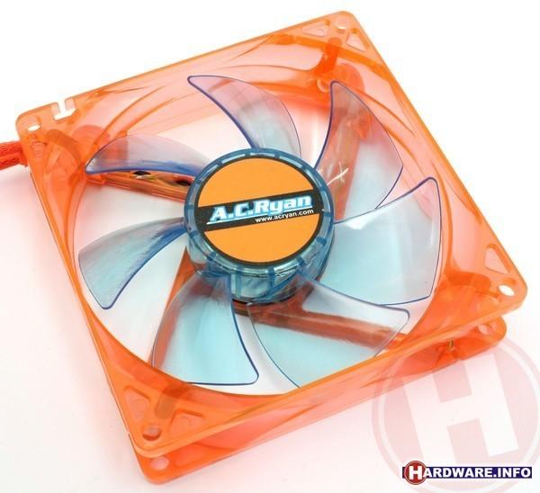 AC Ryan Blackfire4 UV LED Fan 92mm Orange/Blue