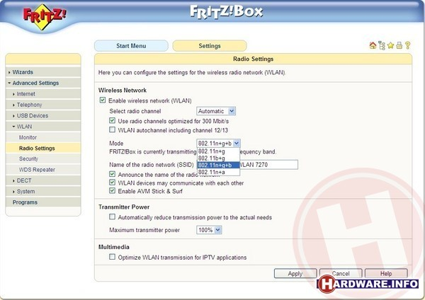 AVM Fritz!Box Fon WLAN 7270