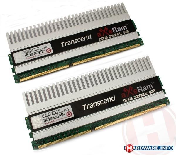 Transcend AxeRam 8GB DDR3-2000 XMP kit