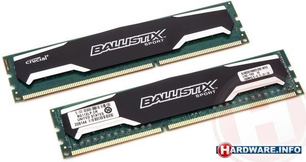 Crucial Ballistix Sport 16GB DDR3-1600 CL9 kit