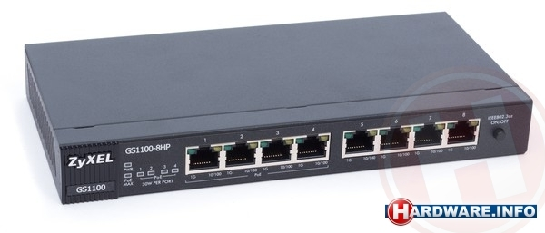 ZyXEL 8-port GbE Unmanaged Switch (GS1100-8HP)