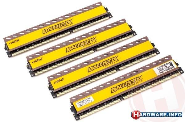 Crucial Ballistix Tactical 16GB DDR3L-1600 CL8 quad kit