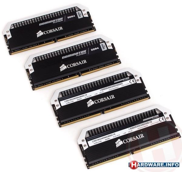 Corsair Dominator Platinum 16GB DDR4-2800 CL16 quad kit