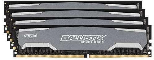 Crucial Ballistix Sport 32GB DDR4-2400 CL16 quad kit