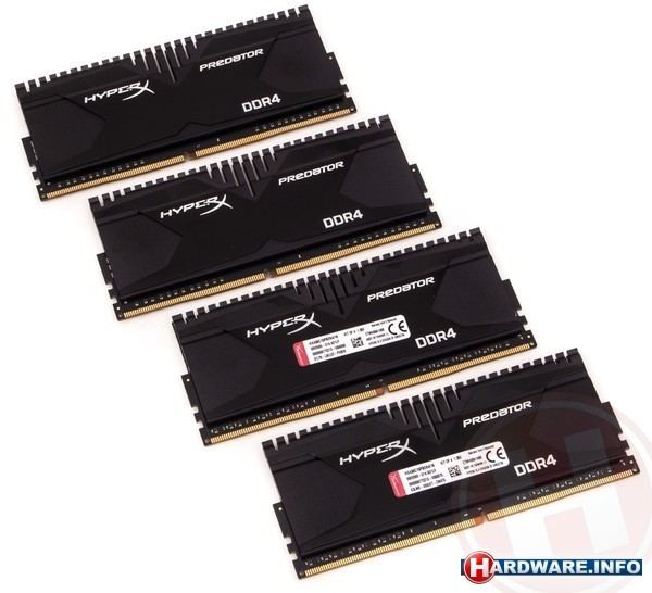 Kingston HyperX Predator 16GB DDR4-3000 CL15 quad kit