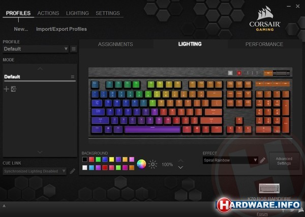 Corsair K70 RGB Rapidfire Cherry MX Speed