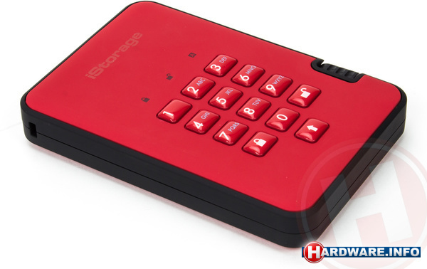 iStorage diskAshur 2 SSD 256GB Red